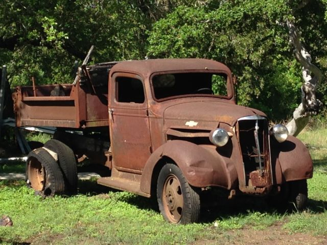 vintage 1937 chevy chevrolet dump truck 1 1 2 ton other pickup rare for sale chevrolet other. Black Bedroom Furniture Sets. Home Design Ideas