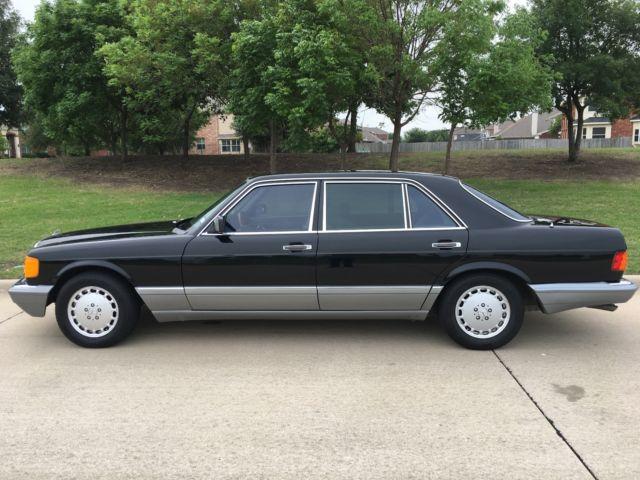 Vintage Antique 1987 Mercedes Benz 420 Sel Black Very