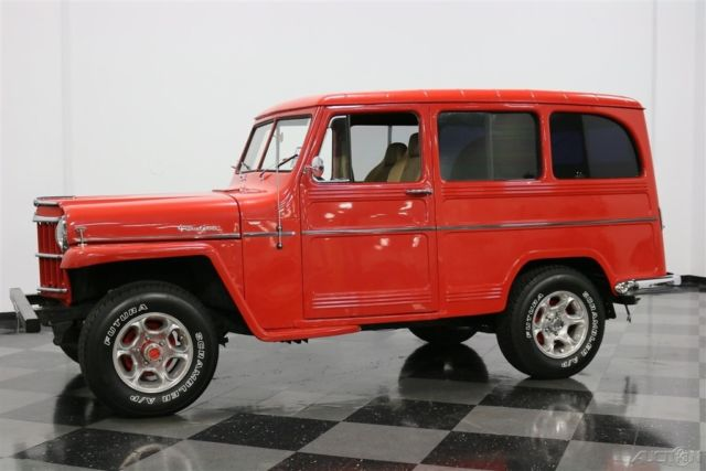 vintage classic suv red 4x4 4wd 4 wheel drive 1960 used manual for sale willys 1960 for sale. Black Bedroom Furniture Sets. Home Design Ideas