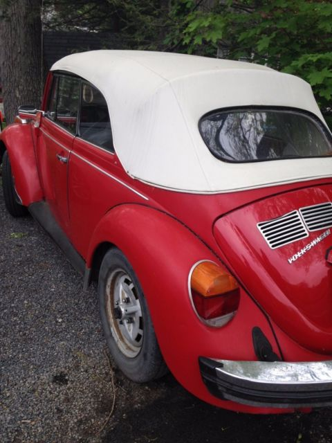 volkswagen classic beetle red convertible for sale volkswagen beetle classic 1975 for sale. Black Bedroom Furniture Sets. Home Design Ideas