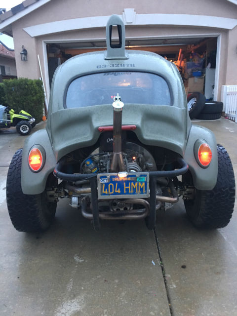 VW Baja Bug, Manual, Army Green, Lifted Rear, No Rust, Blue Plate, Runs Great! for sale ...