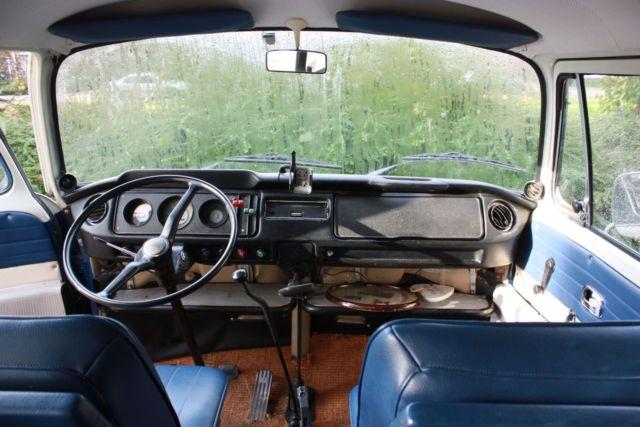VW T2'69 + Eriba Puck '80 blue combination for sale