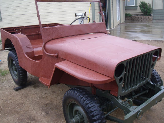 Cars For Sale In Fresno Ca >> Willy's Jeep Project 1945 Military Vehicle for sale ...