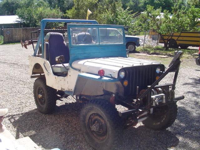 Willys CJ2A, 1946 1947 1948 NO TITLE Starts, Runs, Drives