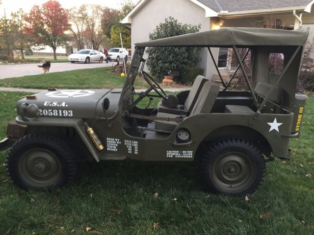 willys m38 jeep mb military clone for sale willys m38 1952 for sale in wichita kansas. Black Bedroom Furniture Sets. Home Design Ideas
