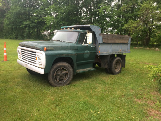 Working 1967 Ford F-600 Dump Truck V8 Manual 4 Speed W Hi-low Rear F600 Dually For Sale
