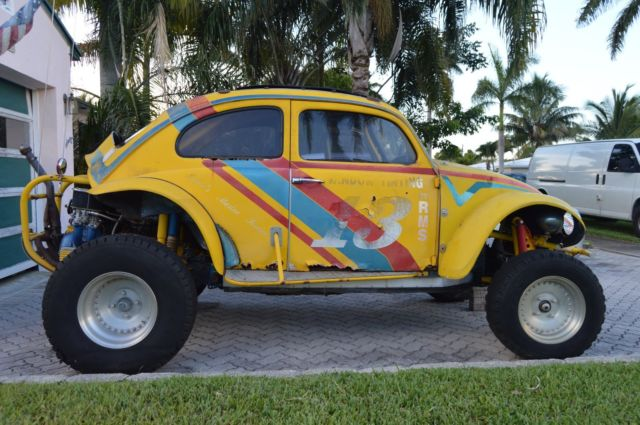 Yellow Volkswagen Competition Baja Bug Dune Buggy Was